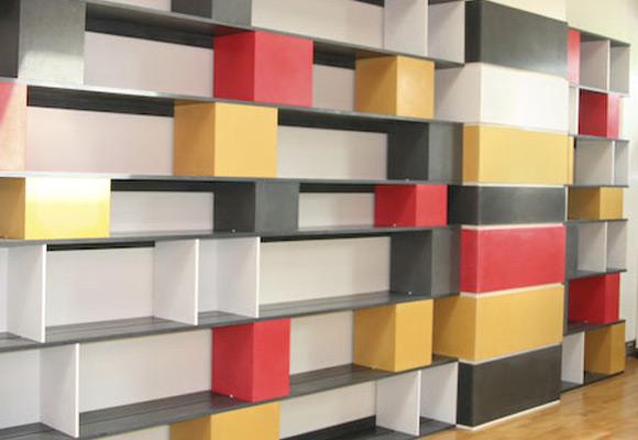 Книжные полки из бетона