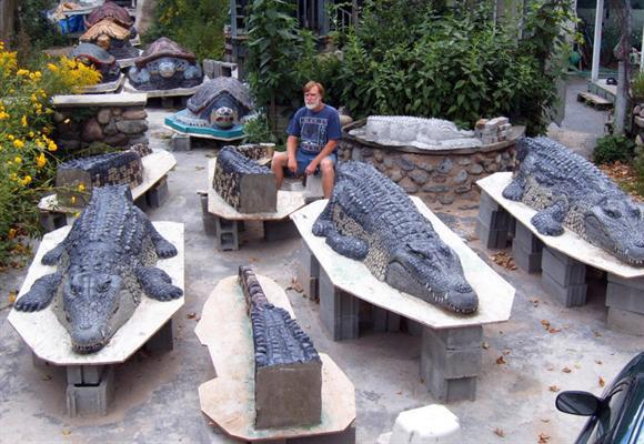 Садовые скульптуры бетона своими руками