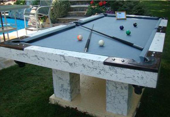 Бильярдный стол из бетона