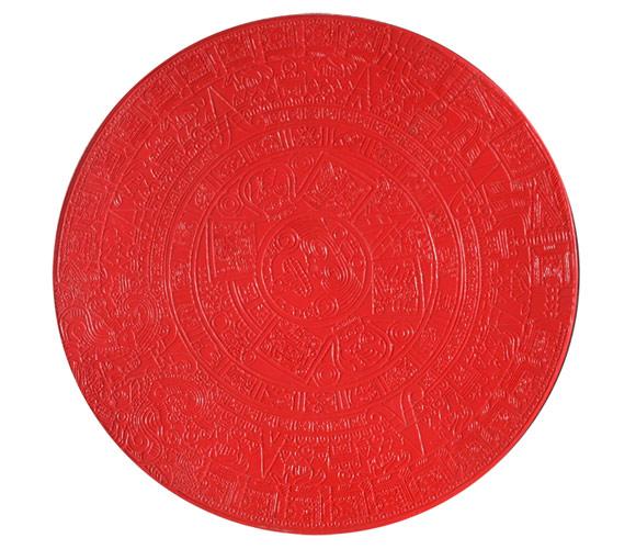 Декоративный бетон: календарь ацтеков