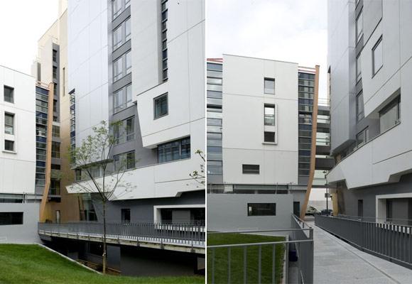 Фредерик Борель: жилой дом в Париже с фасадами из полированного бетона