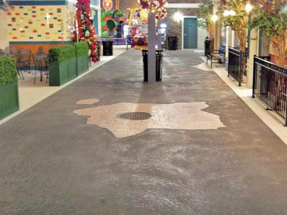 Декоративный бетонный пол в развлекательном центре I-Play America