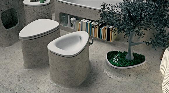 Ванная комната из бетона
