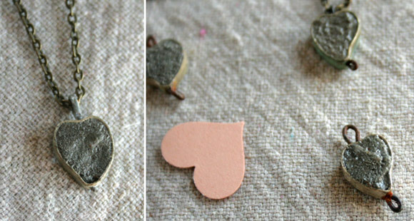 Сердечко из бетона ко Дню св. Валентина