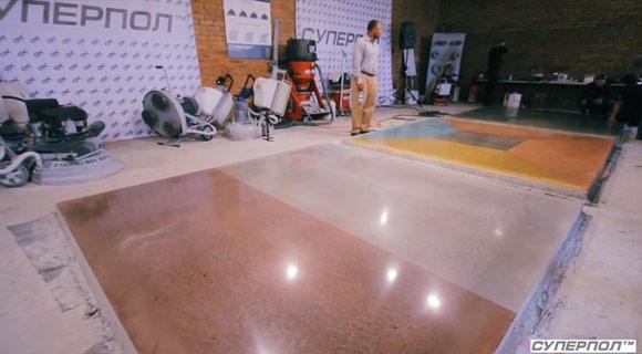 Семинар-тренинг по шлифовке и полировке бетона «Суперпол — бетонный полированный пол»