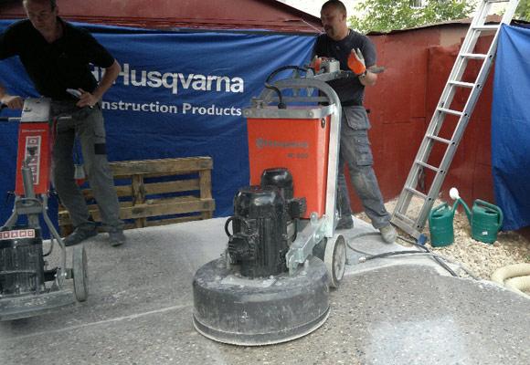 Семинар-тренинг по шлифовке и полировке бетона по технологии Husqvarna Hiperfloor