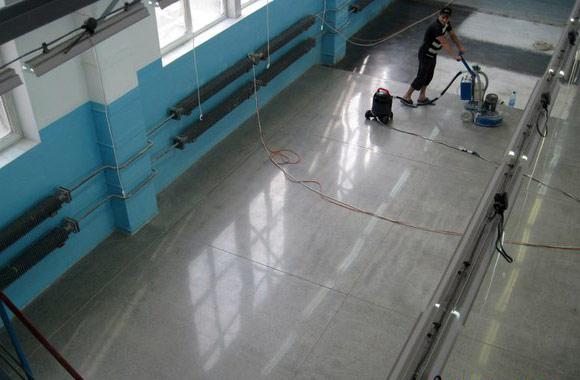 Полировка бетона в производственно-складском помещении компании JB-Plast