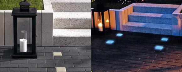 Светящиеся бетонные блоки NighTec Leuchtsteine