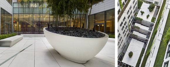 Шлифованный бетон в офисном здании