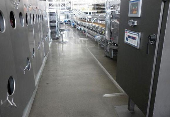 Полировка бетонного пола на заводе SJO Bimbo