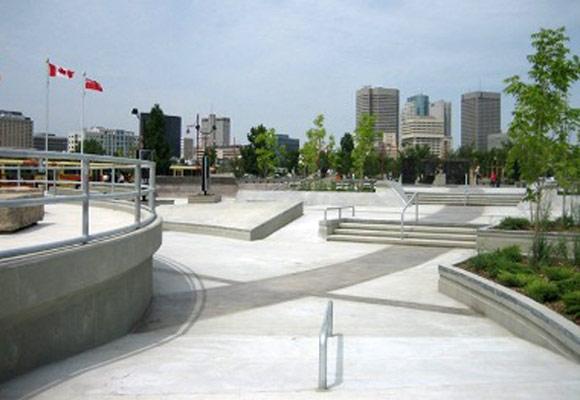 Бетонный скейт-парк
