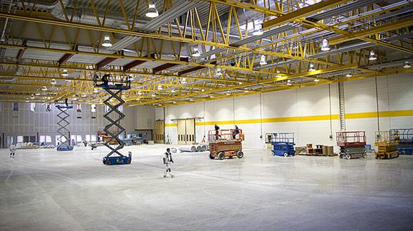 Полированный бетонный пол в промышленных и складских помещениях