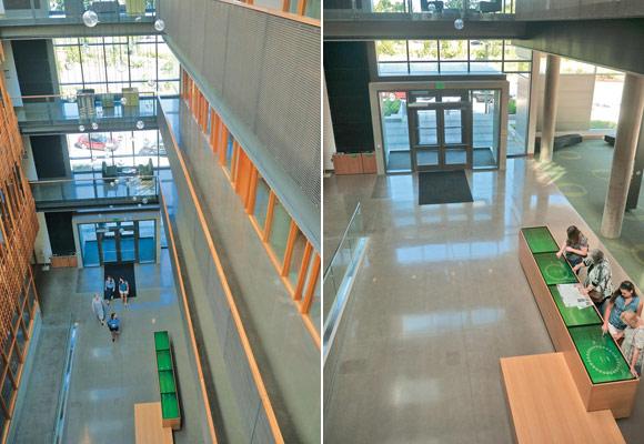 Полированный бетонный пол в Университете штата Орегон