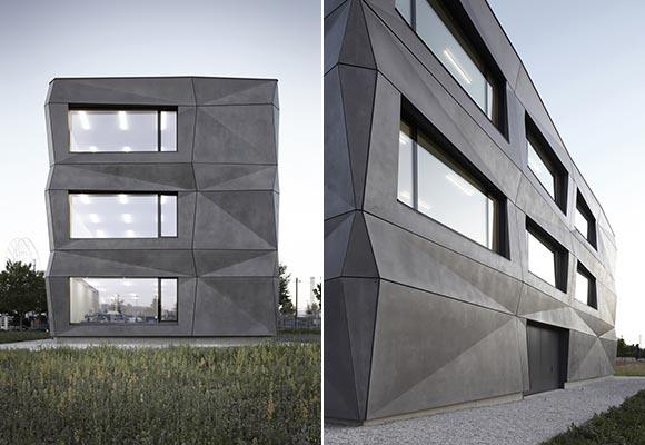 Textilmacher - здание с фасадами из сборного бетона
