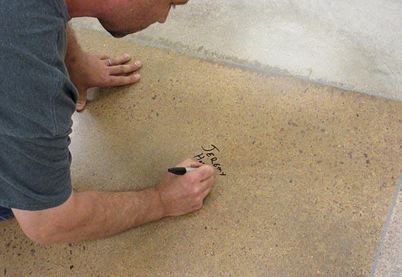 Полированный бетонный пол
