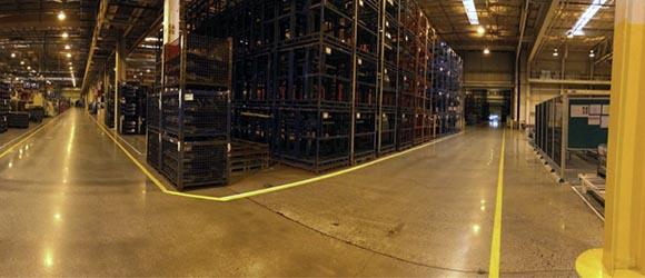 Шлифовка и полировка бетоннного пола на заводе Thai Summit America Corp.