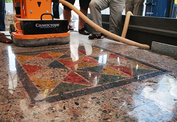 Декоративный окрашенный (тонированный) бетон
