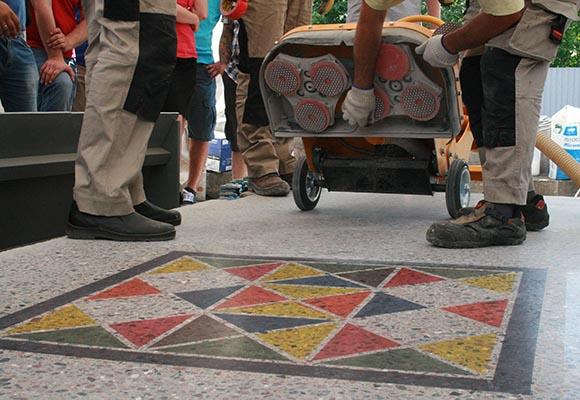 Декоративный полированный бетон