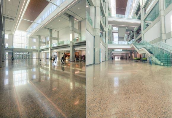 Полированный бетонный пол в Технологическом институте Северной Альберты