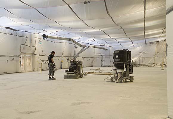 Полированный бетонный пол в научно-исследовательском центре MAX IV