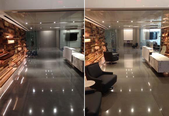 Полированный бетон в офисном центре
