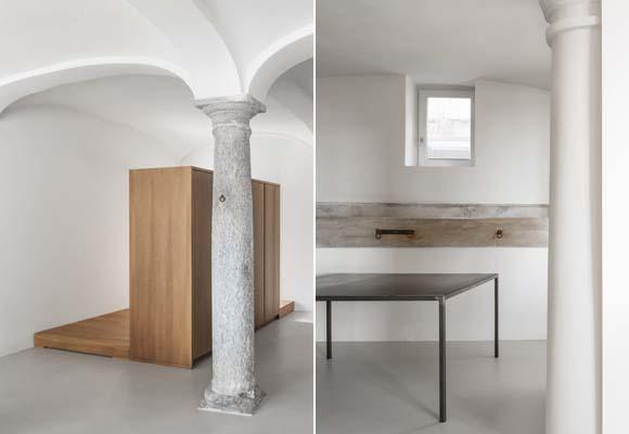 Полированный бетонный пол в особняке 18-го века в Ломбардии
