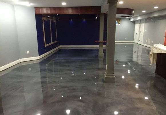 Декоративный бетонный пол