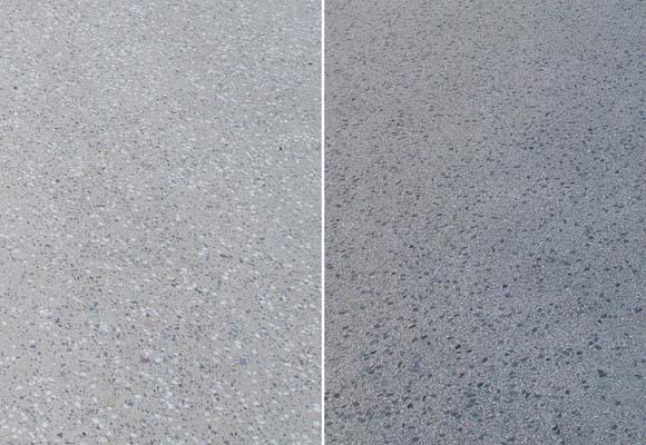Полированный бетонный пол в центре проката автомобилей