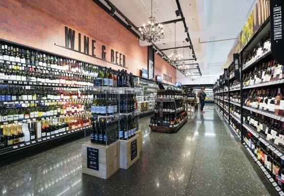 Полированный бетонный пол в продуктовом рынке Fresh Choice City Market